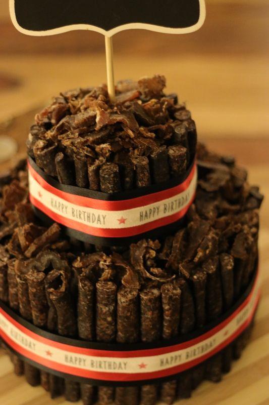 Custom Biltong Birthday Cake In 2019 Biltong Food Cake