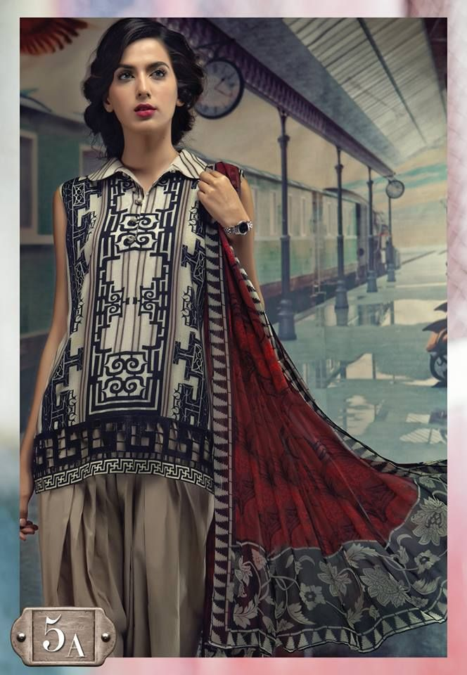 10db9aba19 Latest Maria B Winter Printed Dresses 2018-2019 Lyallpur Collection ...