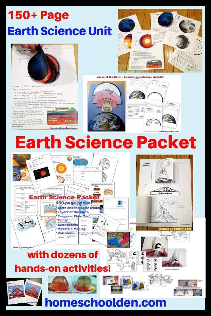 Earth Science Packet Earth Science High School Earth Science Science Units