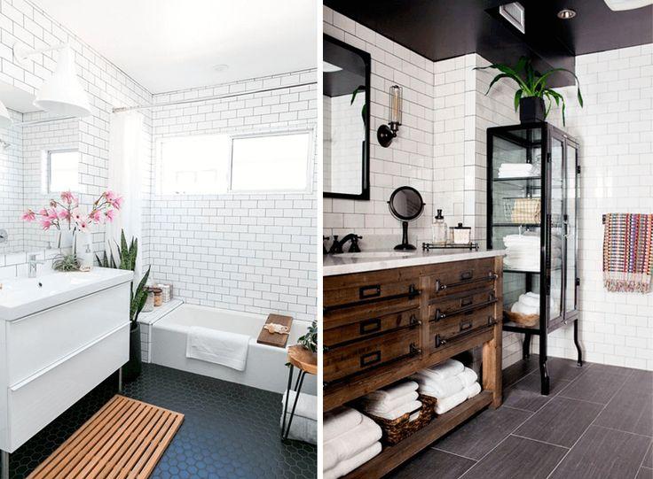 Плитка метро в интерьере ванной