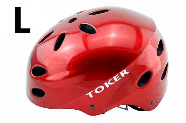 TOKER Men's/Women's Round Ultralight PVC Cycling Helmet [Sz S/M/L]