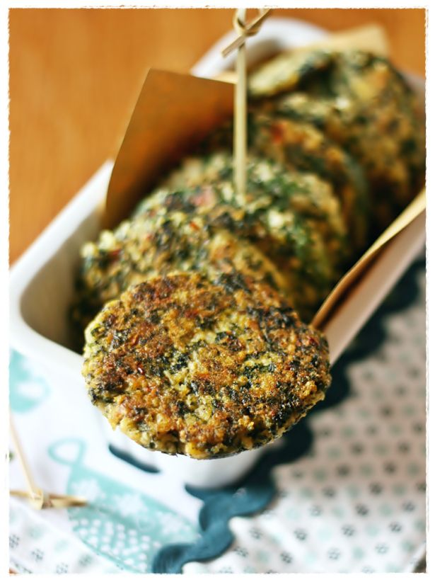 Polpette di miglio e cime di rapa - Millet and broccoli rabe patties