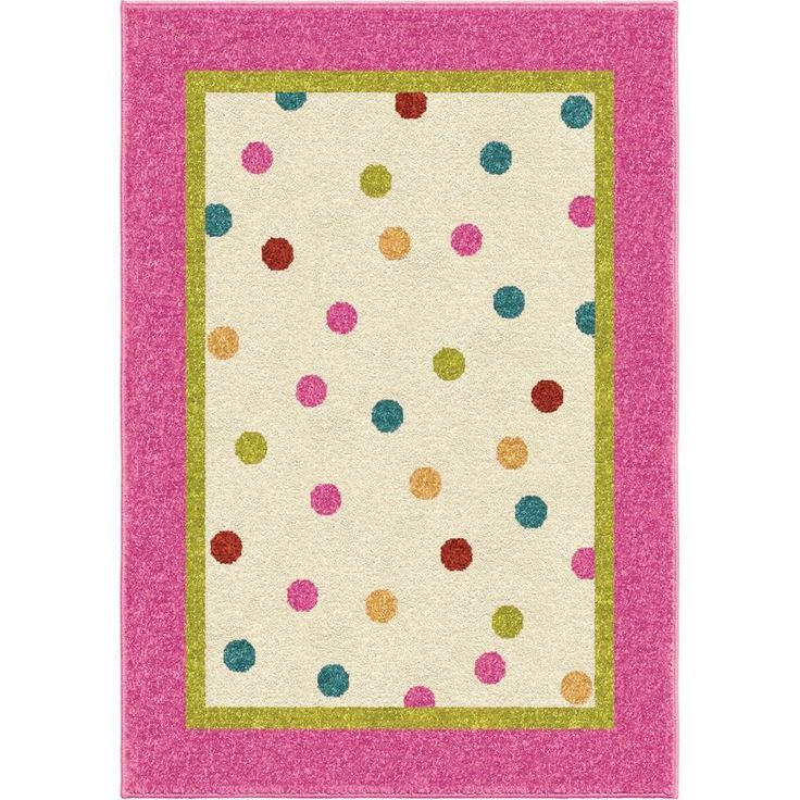 Carolina Weavers Innocence Collection Polkadot Posies Pink