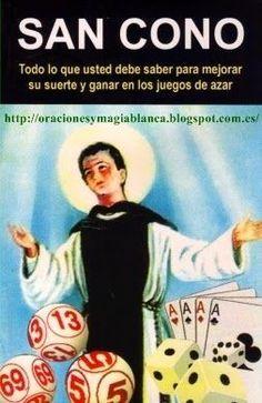 Oracion a SAN CONO para JUEGOS DE AZAR