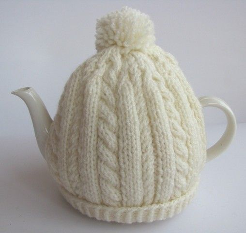 Vintage Tea Cosy Knitting Patterns Free : Aran knit tea pot cosy i m in love things pinterest