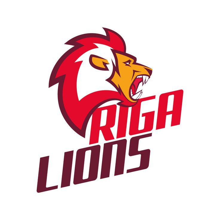 "Football team ""Riga Lions"" logo"