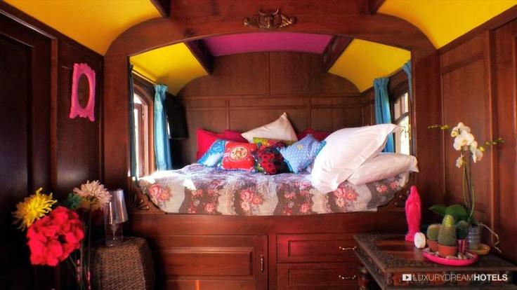 Neo-pop and crazy style for a daring #gipsy #kitsch caravan - Le Mas de la Fouque, Saintes Maries de la Mer, France #luxurydreamhotels