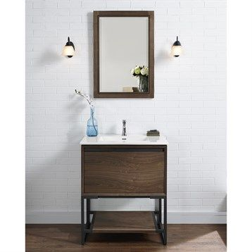 """Fairmont Designs M4 30"""" Vanity for Integrated Sinktop - Natural Walnut 