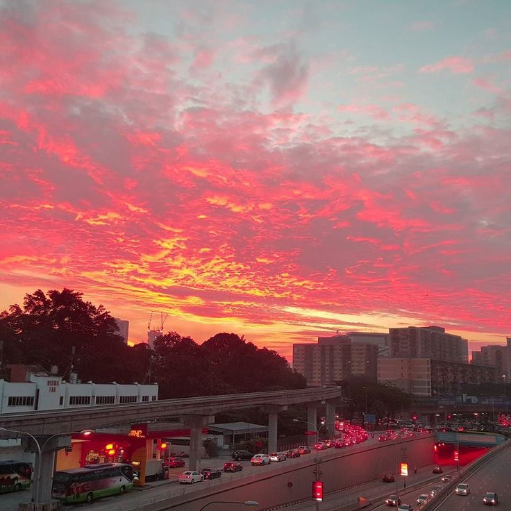Sunrise in KL.