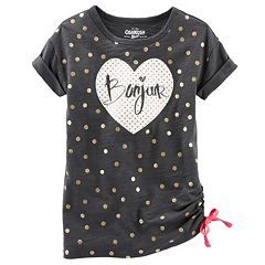 Girls 4-6x OshKosh B'gosh® Side-Tie Glitter Tee