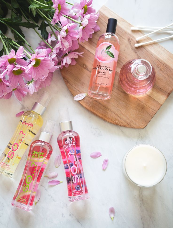 spring scents so body mists the body shop pink grapefruit body mist the body shop cherry blossom perfume
