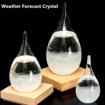 Tempo Storm Glass Drop Weather Forecast Water Drops Shape Crystal Weather Forecast Crystalloid Decor