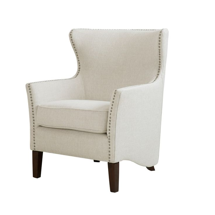 A frame designed with curves all around, exquisite nailhead detailing and tall slender leg, make this chair the epitome of comfort.