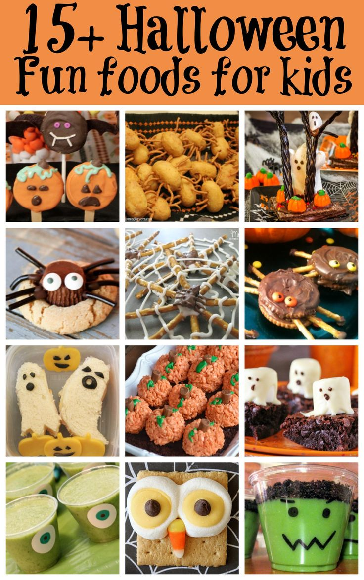 Just 6 days left until Halloween! Here are 15+ Halloween Fun Foods for Kids