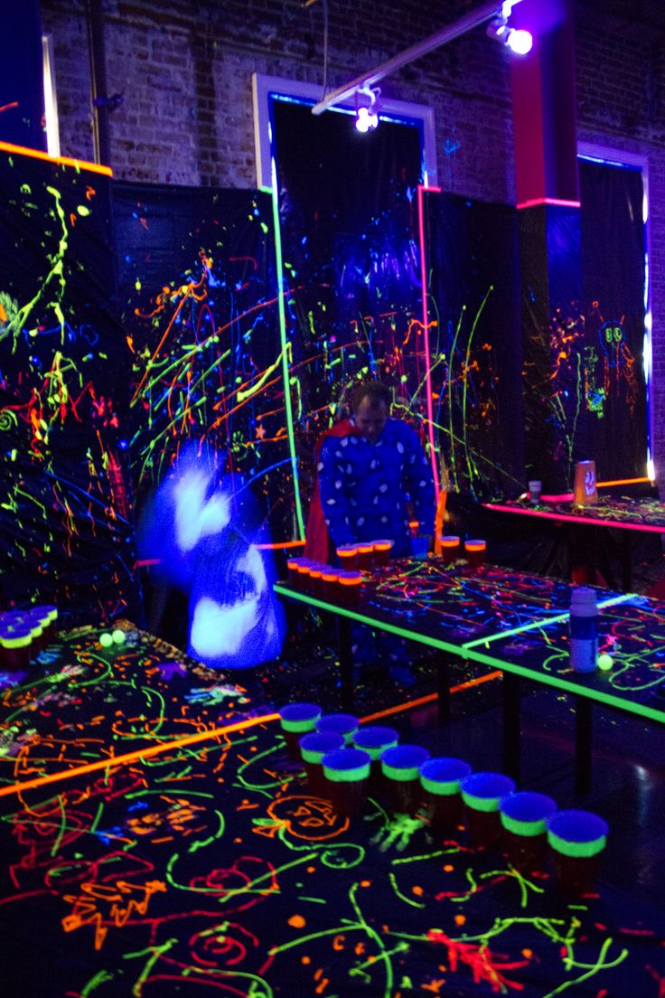 Pin By Sonia Thrush On Parties In 2019 Blacklight Party