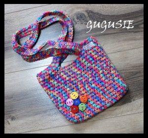 Szydełkowa torebka dla dziewczynki. www.gugusie.com.pl