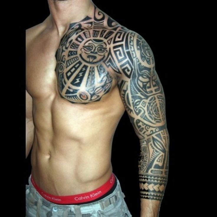 Tribal shoulder and arm tattoos meanings for men : Image Gallery 1725 | Amazing Tattoo Design