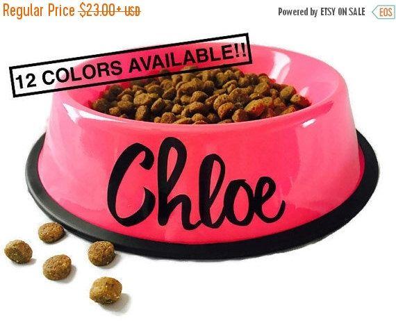 DOG BOWL SALE! Dog Bowl Personalized - Personalized Pet Bowl - Custom Dog Bowls - Dog Dish - Personalize Dog Bowl - Dog Bowls - Dog Bowl wit by WiggleSnoots on Etsy https://www.etsy.com/listing/258867049/dog-bowl-sale-dog-bowl-personalized