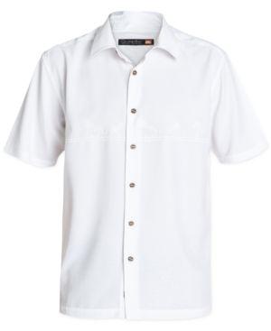 Quiksilver Waterman Men's Tahiti Palms Short-Sleeve Shirt -