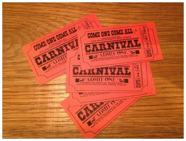 17 beste ideer om Carnival Tickets på Pinterest - printable ticket paper