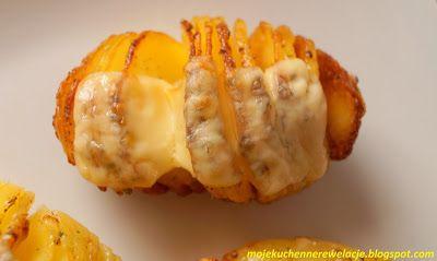 Moje                                                                       Kuchenne Rewelacje  : Pieczone ziemniaki Hasselback z serem