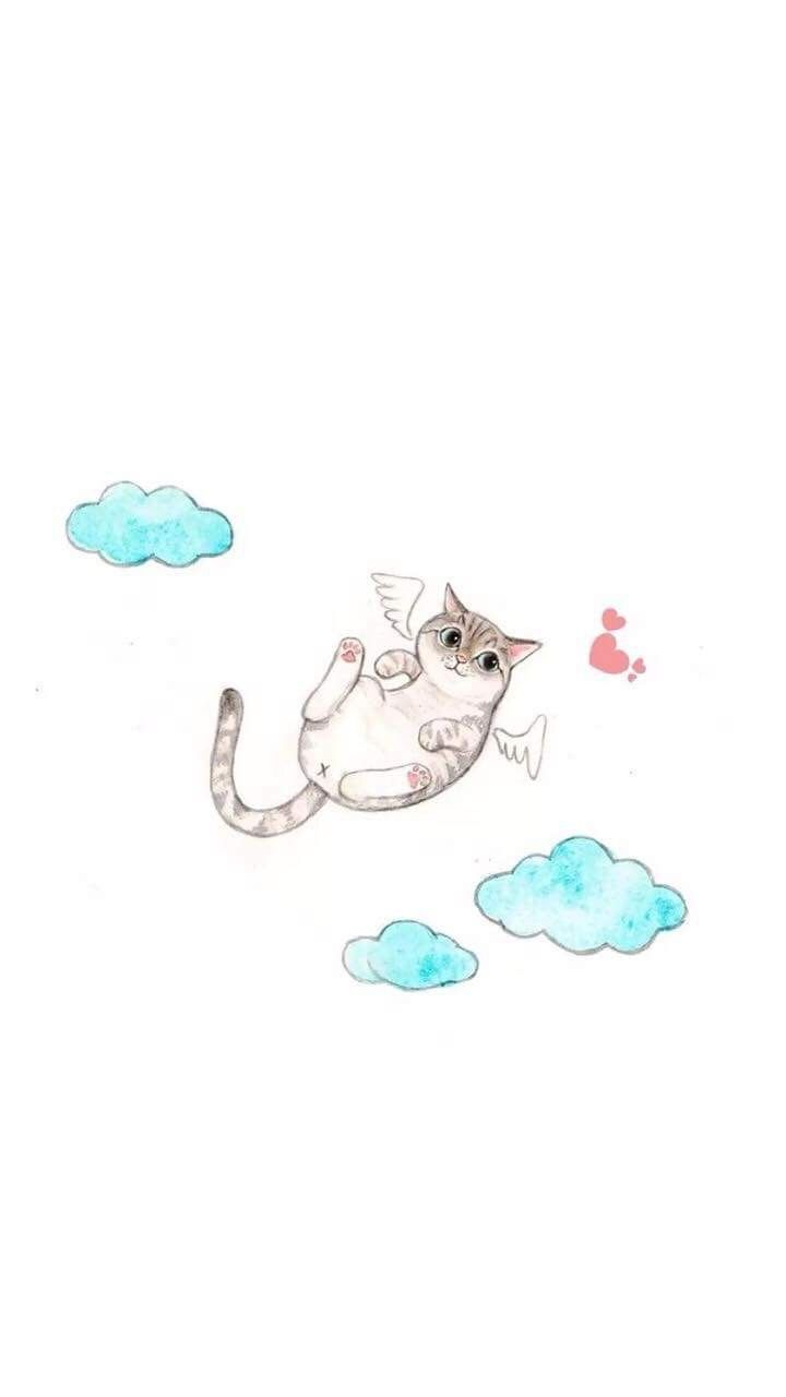 Pin By Mirai On Home Screen Iphone Wallpaper Cat Funny Cat Wallpaper Cat Wallpaper