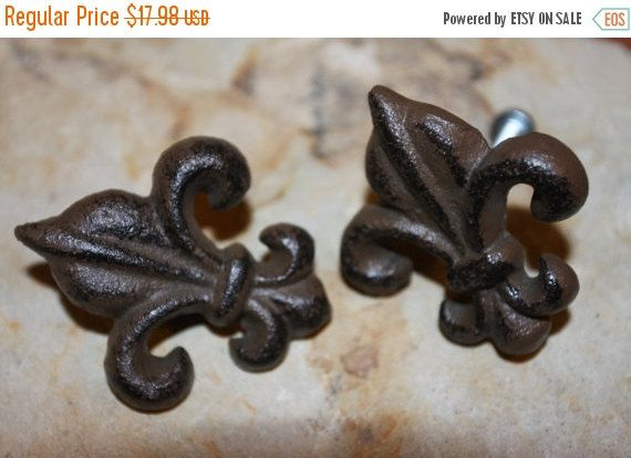Exceptional 13% OFF 10pulls Cast Iron Fleur De Lis Pulls FREE By WePeddleMetal