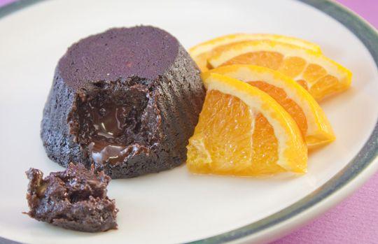 Dark Chocolate Banana Lava Cakes {Gluten Free, Dairy Free, Egg Free}