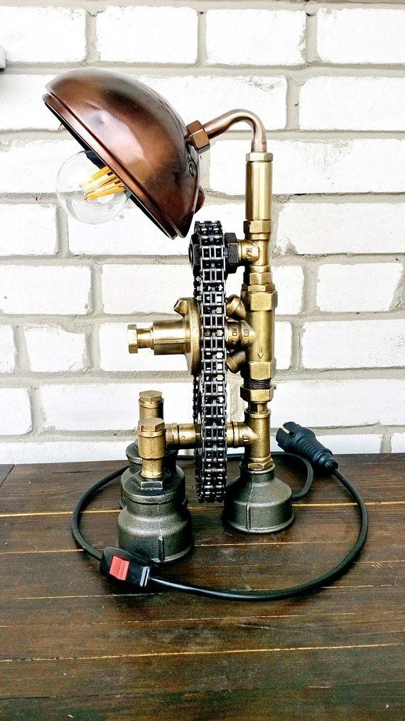 Steampunk Bedside Reading Lamps Metal Lamp Industrial Style Table