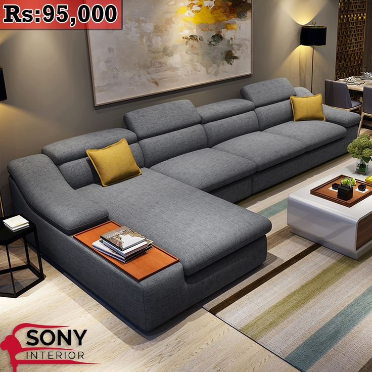Modern L Shaped Sofa | Living Room Sofa Design, Buy Living Room Furniture, Modern Furniture Living Room