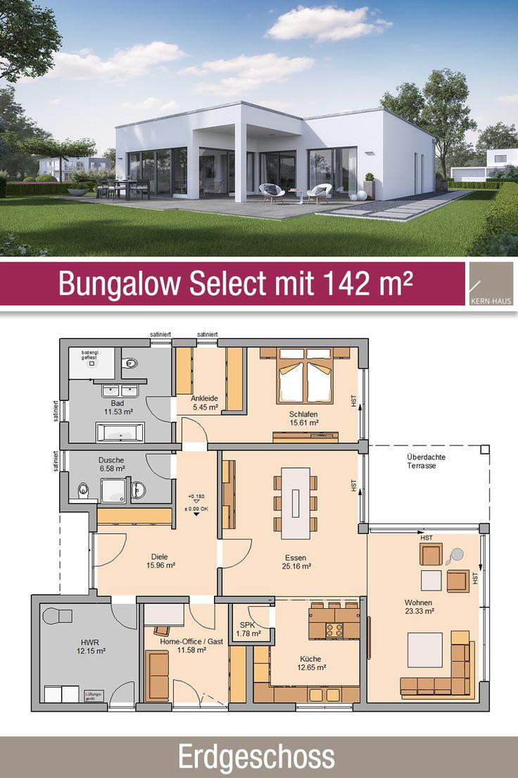 Bungalow – Grundriss – 142 m² – 3 Zimmer – Erdgeschoss