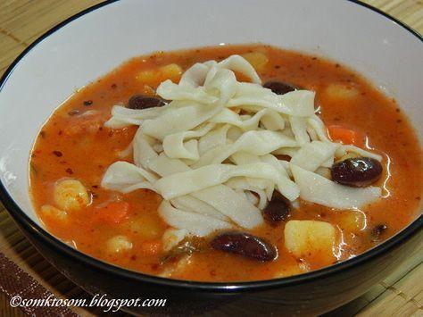 RECEPTY Z MOJEJ KUCHYNE A ZÁHRADY: Fazuľová polievka so slížami