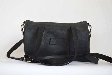 Amelia Boland Bag NZ #5 Barrel Bag in Motorcycle Black