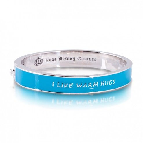 "Disney Couture Frozen ""I love warm hugs"" Bangle Bracelet"