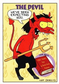 The Devil trading card (The Simpsons) 1994 Skybox #S17 @ niftywarehouse.com #NiftyWarehouse #TV #Shows #TheSimpsons #Simpsons