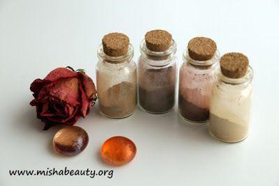 Misha Beauty - přírodní kosmetika a jiné DIY projekty : Matné minerální stíny - 30, 31, 32, 33