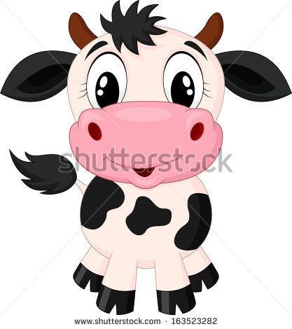 Cute Cow Cartoon N° de la photo d'archives : 147982118 : Shutterstock
