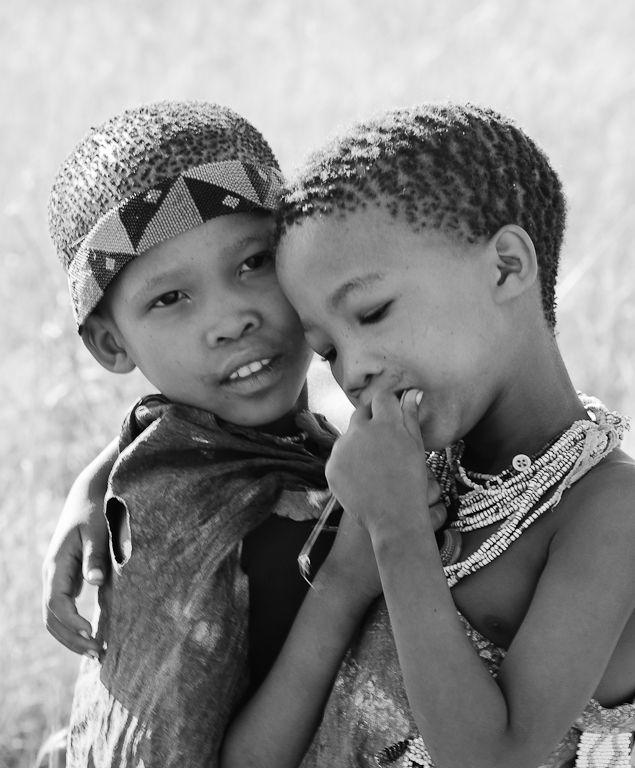 San Bushman children in Africa #creditmising