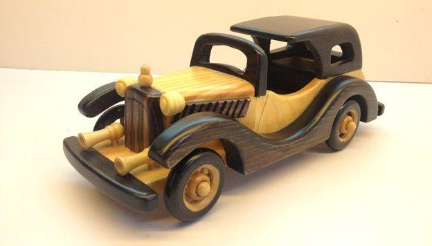 el yapımı antika ahşap klasik otomobil
