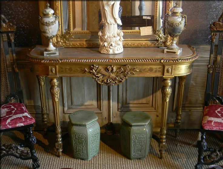 Louis XVI Gilt Console $4900   Tables U2014 Plantation Antique Galleries, Mobile,  AL