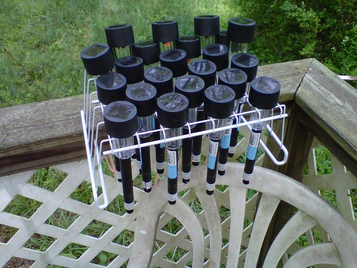 Emergency lighting kit idea. These little solar lights give off a lot of light, surprisingly. The rack is an under shelf basket turned upside down. This way you can keep them outside and charged up, but they can be brought inside very easily. Tie the basket down so it won't fall off.