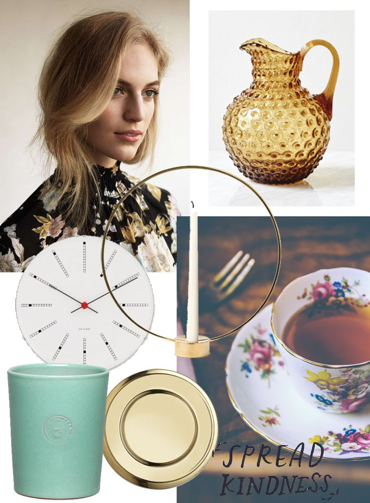 Mood board with interior details