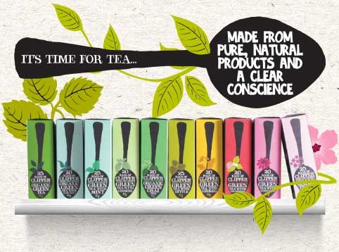 "Time for tea, ""Clipper teas"" a beautiful design! I love this packaging and what's inside, it's delicous pure and natural.."