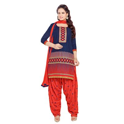 Buy Decent Wears Blue Cotton Dress Material by Decent Wears, on Paytm, Price: Rs.1150