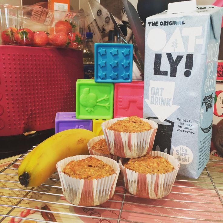 Banana and Oat Breakfast Muffins  (dairy, egg, nut and soya free: mummybakesdairyfree)
