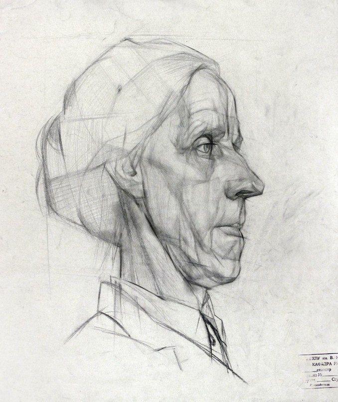 кубиками, картинки рисунка головы карандашом так же