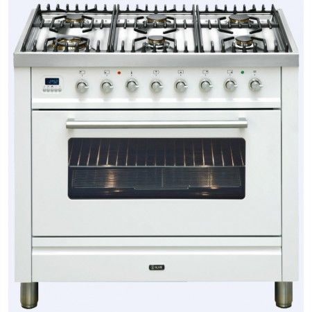 Ilve - 90cm Gas/Electric Freestand Oven, 6 Burners, Bright White | Uprights | Ovens, Cooktops & Rangehoods - Buy Factory 2nd and New Appliances and White Goods Online at 2nds World