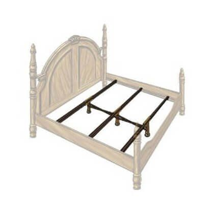 Hospitality Bed X Support System 3 Rails 3 Adjustable Legs
