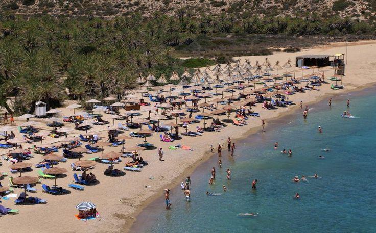 Vai Beach, Kreta #Greece #Grekland #Crete #Kreta #Beach #Strand #palmer #palmskog #vacker #beautiful #vacation #semester #ocean #hav #Vai #island #Ö #mediterranean #medelhavet