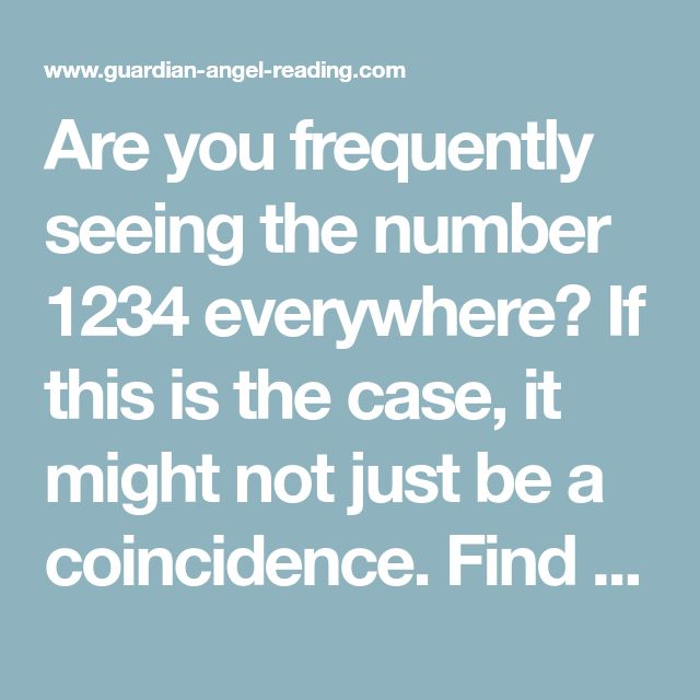 1234 Angel Number Meaning And Influence